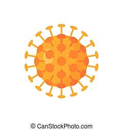 Vector virus icon in simple flat style.