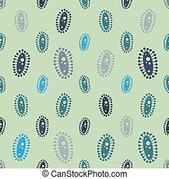 Vector  virus seamless pattern