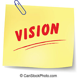 Vector vision message - Vector illustration of vision paper ...