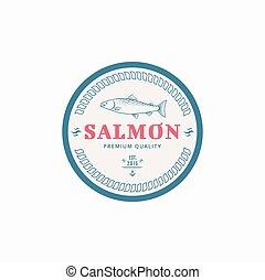 vector, visserij, etiket