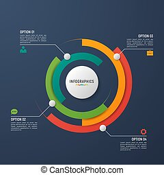 vector, visualization., tabel, infographic, mal, cirkel, data