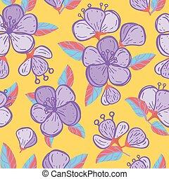 Vector vivid yellow summer flowers texture seamless pattern print background.