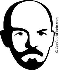 vector Vladimir Lenin - leader of soviet bolshevik party