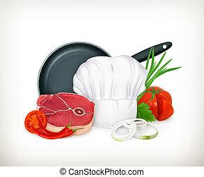 vector, voedingsmiddelen, illustratie