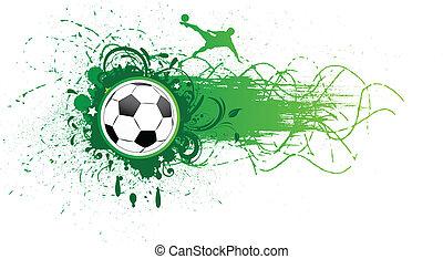 vector, voetbal, banner.