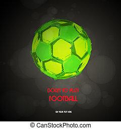 vector, voetbal, voetbal
