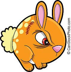 vector, volhardend, bunny konijn, dier