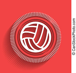 Vector volleyball icon flat modern design