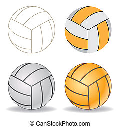 vector volleyball - volleyball on a white background
