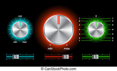 Vector volume balance knobs