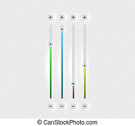 vector, volume, bar, set