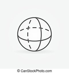 Vector volume sphere outline icon
