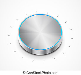 Vector volume switch knob - Vector illustration for your...