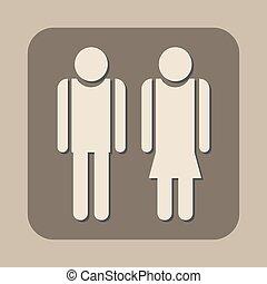 vector, vrouw, man, pictogram