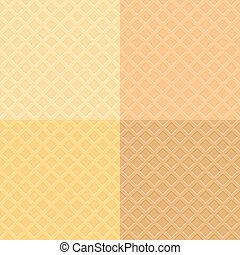 Vector waffle pattern background