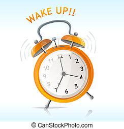 vector wake up message clock