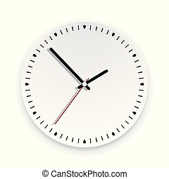 vector  wall clock face