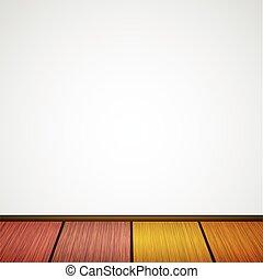 Vector wall with wooden floor