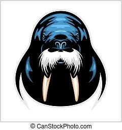 Vector Walrus logo template for sport teams, business etc.