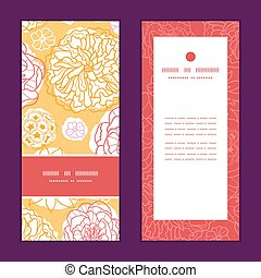 Vector warm day flowers vertical frame pattern invitation ...