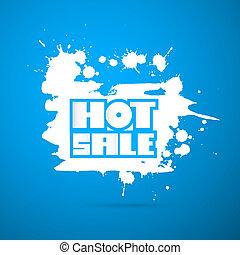 vector, warme, verkoop, titel, op, blauwe achtergrond, -, winter, verkoop