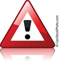 vector warning sign