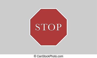 Vector warning stop sign icon