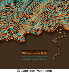 Vector warped lines background. Colorful abstract stripes vector illustration