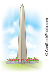 vector Washington Monument - Abstract Washington Monument...