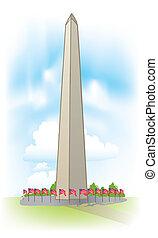 vector Washington Monument - Abstract Washington Monument...