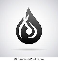 Vector water drop logo. Design template