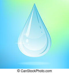 Vector water drop. - Vector illustration with water drop on...