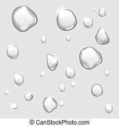 Vector Water drops isolated on white background: rain dew spray