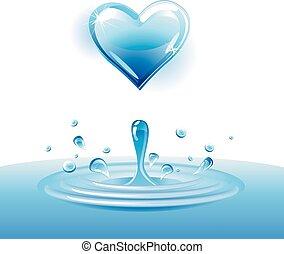 Vector water heart