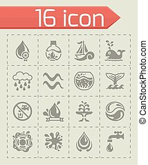 Vector Water icon set