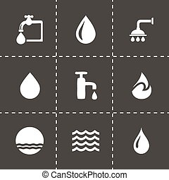 Vector water icons set