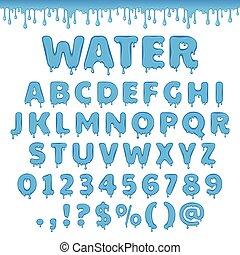 Vector water latin alphabet