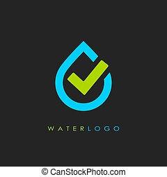 Vector water logo