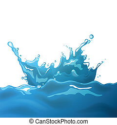 Vector Water Splash - Vector Illustration of a Water Splash