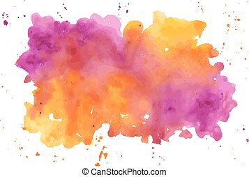 Vector watercolor abstract hand painted background....