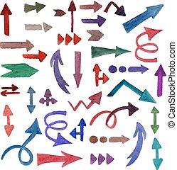 Vector Watercolor Arrows