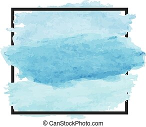 Vector watercolor background. Abstract Banner design element sign with place for message