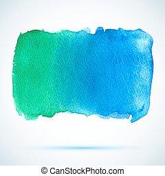 vector watercolor blue banner