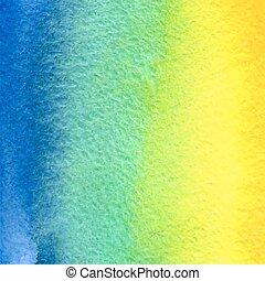 vector watercolor blue green yellow