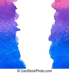 vector watercolor blue & violet