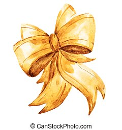 Vector watercolor bows - Beautiful vector image with nice...