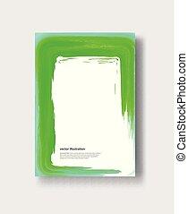 Vector watercolor brush stroke banner.
