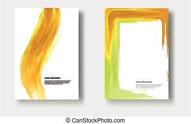 Vector watercolor brush stroke.