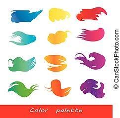 Vector watercolor brush strokes.