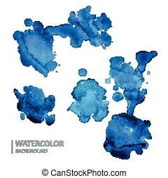 Vector Watercolor Design Elements